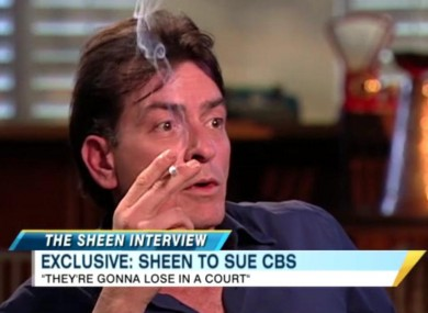 Charlie Sheen in an interview with ABC News