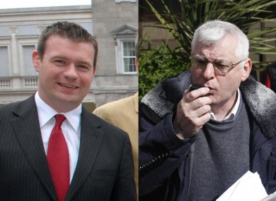 Labour's Alan Kelly (left) and socialist Joe Higgins have both vacated their seats in the European Parliament after being elected to the Dáil.