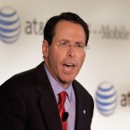AT&T: now worth .916bn - unchanged on last year. Pictured: chairman and CEO Randall Stephenson.