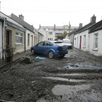 Debris silts up Lady's Lane in Kilmainham. Image: Eamonn Farrell/Photocall Ireland