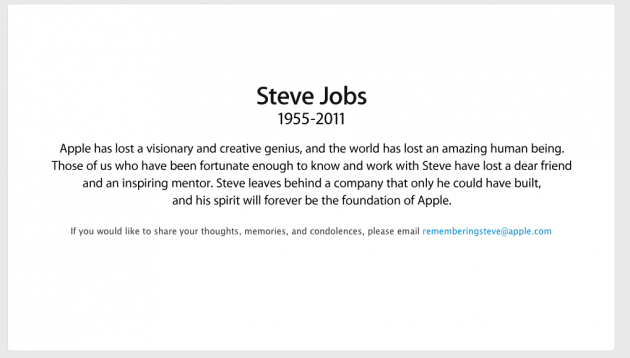 Apple Steve Jobs Dead