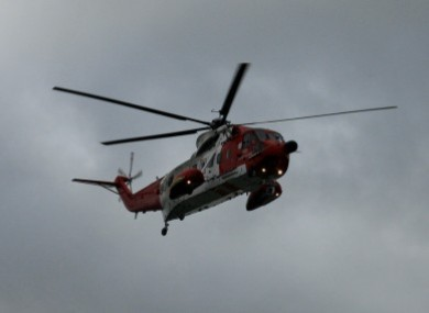 File photo of a Coast Guard helicopter