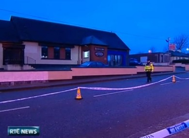 The scene outside the pub in Ballyphehane where Gerard Delaney died in December