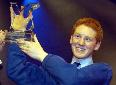Patrick Collison winning the Young Scientist competition in 2005. Collison's startup Stripe, set up with his brother John, is now worth an estimated $100m.