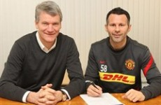 Ain't no stopping him: Ryan Giggs signs one-year extension