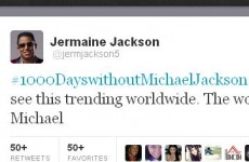 Twitter trend of the Day: #1000dayswithoutMichaelJackson