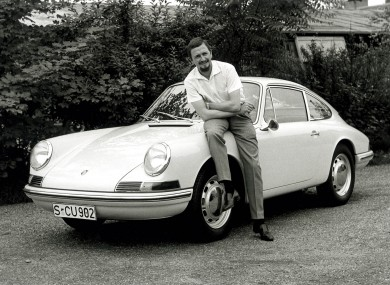 Ferdinand Porsche in 1963 with his landmark design