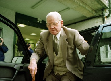 James Gogarty attending the Flood Tribunal in 1999. Gogarty was 80 when the Tribunal began.