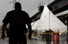 One dead and dozens injured as heavy winds tear through beer tent in St Louis