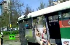 Video: Explosions strike Ukrainian city