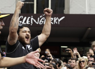 Weepu celebrates on the streets of Auckland following New Zealand's World Cup win last year