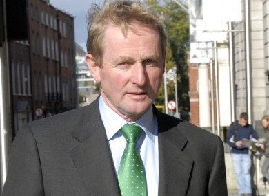 Enda Kenny, pictured here outside Leinster House on the day after the Fianna Fáil-led government said