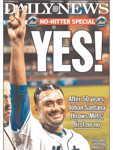 New York goes wild as Santana throws first no-hitter in Mets history