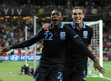 Danny Welbeck and Andy Carroll.