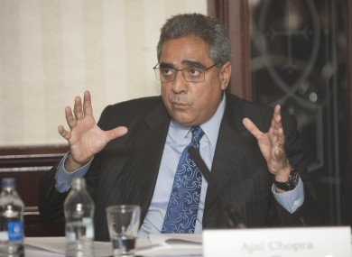 The IMF's Ajai Chopra speaks to reporters in Dublin this afternoon.
