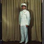 Marine Corps Major in dress white uniform. Photo: Howard Hollem