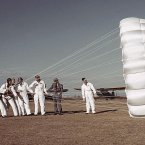 Student pilots learn how to operate a parachute at Fort Worth in Texas.