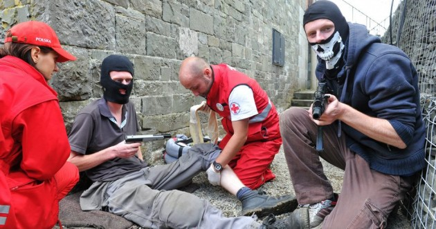 GALLERY: Red Cross teams deal with (fake) injuries across Dundalk