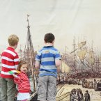 From left: Eoin Weeks, 9, Isabella Fusciardi, 3, and Aidan Weeks, 7, enjoying the Tall Ships event. (Sasko Lazarov/Photocall Ireland)