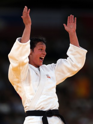 Netherlands Judo player Edith Bosch was on hand during last night's 100m final
