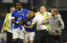VIDEO: Tony Hibbert finally scores for Everton