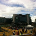 Soaking up the atmosphere at the festival events by the quays, by @ninolawlor.