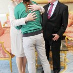 And a hug from Sabina too. Photo: Laura Hutton/Photocall Ireland