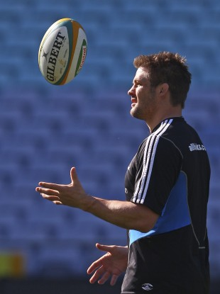 All Black captain Richie McCaw in training last month.