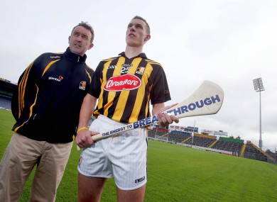 Kilkenny's Cillian Buckley with manager Richie Mulrooney at