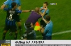 VIDEO: Watch this crazed Metalist Kharkiv fan attack a linesman