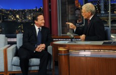 Letterman springs a history quiz on David Cameron