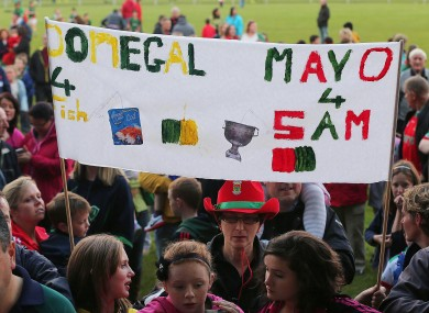Mayo fans feeling confident at MacHale Park last week.