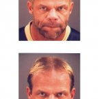 Wrestler Lex Luger doesn't look too happy in this 2003 mugshot (top), taken after police allegedly found illegal bodybuilding drugs in his home. The bottom mugshot was taken in April of that year when he was charged with hitting his live-in girlfriend during a fight.