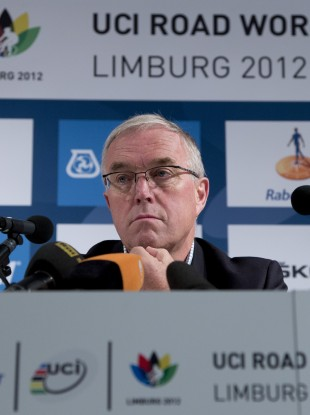 UCI chief Pat McQuaid.