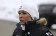 Track star Lolo Jones looked completely petrified on her bobsled competition debut