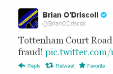 Tweet Sweeper: Brian O'Driscoll is quite the wise guy