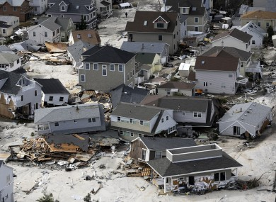 Some of the destruction caused by Hurricane Sandy.