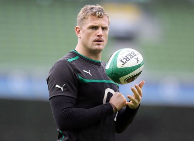 Jamie Heaslip leads Ireland for the first time.