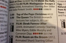 So RTÉ Guide, what's on at 3pm on Christmas Day?