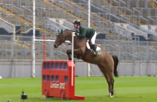 VIDEO: Cian O'Connor brings show-jumping to Croke Park