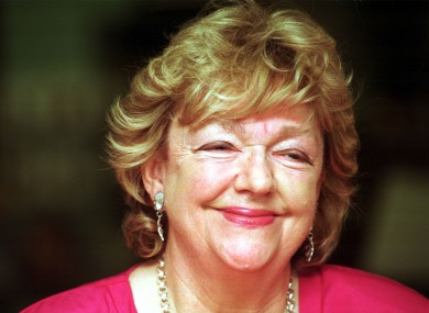 The late Maeve Binchy