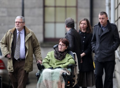 Marie Fleming leaves the Four Courts with her family after the decision last week