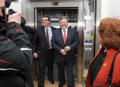 Minister for Health Dr James Reilly emerges from the lift