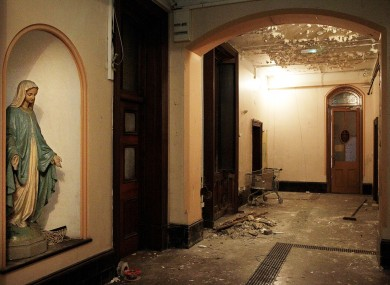 The interior of the now derelict Sisters of Our Lady of Charity Magdalene Laundry.