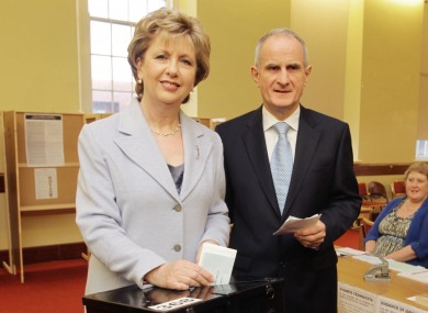 Martin McAleese, seen with ex-president Mary McAleese, in October 2011 as they cast their votes in that month's Presidential election.
