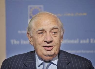 Peter Sutherland (file photo)