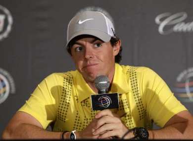 McIlroy today.
