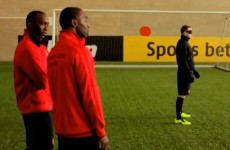 Wayne Rooney leaves Yorke and Cole in awe with blindfolded volley