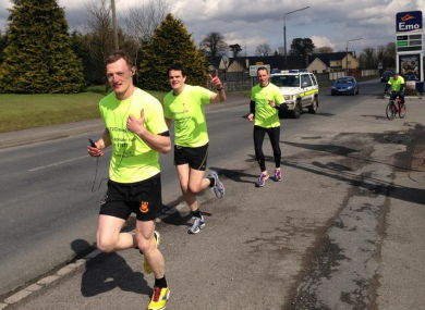 The fundraising run reaches Portlaoise.