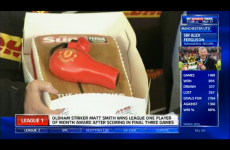 Alex Ferguson was presented with a hairdryer cake by journalists today